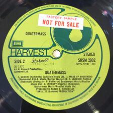 QUATERMASS s/t LP 1975 Rare UK factory sample Harvest SHSM2002 EX/EX