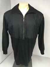 Escada Sport Black Windbreaker SUPER SOFT Fleece 1/4 Zip Pullover Jacket M RARE