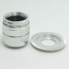 CCTV 35mm f/1.7 Lens + C Mount Adapter For Sony NEX 3 C3 NEX 5 5N &bundle silver