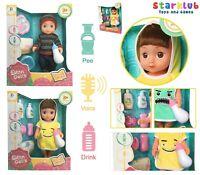 Baby Doll Set Kids Boy Girl Playset Pretend Play Toy Lifelike Sounds Gift UK