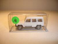 Wiking Werbemodell Siemens (10) Mercedes 230 G weiß ovp