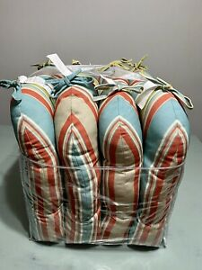 Tommy Bahama Set Of 4 Seat Cushions Indoor Outdoor Water Resistant  Striped NEW