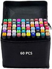 Markers Set Marker Dual Tips Art Supplies Copic Markers 60 Colors w Case NEW