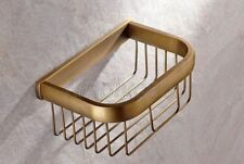 Antique Brass Wall Mounted Bathroom Soap / Sponge Shower Storage Basket Kba534