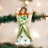 Irish Angel Glass Ornament Old World Christmas NEW IN BOX Shamrock St Patrick