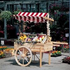 Promadino Marktwagen mit Baldachin weiß/rot