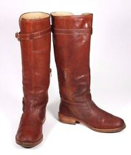 Coach Whiskey Brown Leather Whitley Knee Hi Flat Ladies Boots Size 5.5B