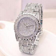 Sparkling Women Ladies Jewelery Quartz Wrist Watches Stainless Steel Silver