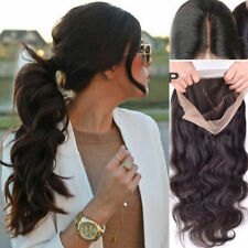 "360g 24"" Glueless Lace Front Full Wig Women Body Wave Wavy Wig W/Baby Hair"
