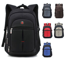 Men's Travel Rucksack Notebook Laptop Swiss Hiking Notebook Backpack School Bag