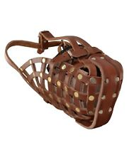 Ray Allen Leather Basket Muzzle - Large - New