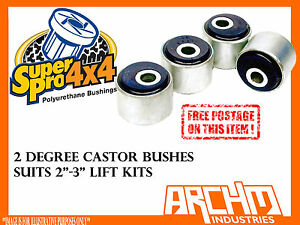 LANDCRUISER 79 SERIES SUPERPRO (2 deg) OFFSET CASTOR CORRECTION BUSH LIFT KIT