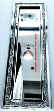 Diamond Crush Crystal Hallway Silver Sparkly Full Length Dressing Mirror