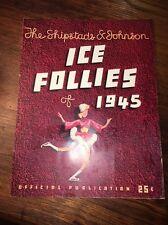 Vintage Shipstad Johnson Ice Follies Of 1945 Souvenir Program Army Air Corps