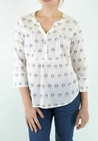 NEW Fat Face Ladies Poppy Gem Geo Popover Blouse RRP £35 Now Half Price