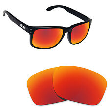 Hawkry Polarized Replacement Lenses for-Oakley Holbrook Orange Red Mirror