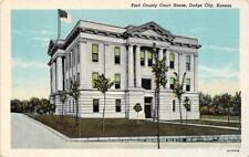 DODGE CITY, KS Kansas   FORD COUNTY COURT HOUSE   Courthouse  c1940's Postcard