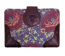100% Authentic Anna Sui Vintage-Inspired Floral Studded Card Case Holder Wallet