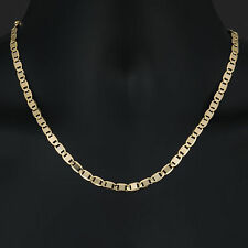 2919/20 - Men's Necklace 14K Gold Plated 6 mm Valentino Chain / Chapa de Oro