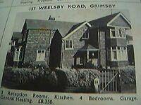 ephemera 1971 picture advert 157 weelsby road grimsby
