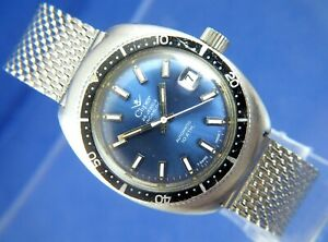 Cliper Automatic Skin Diver Gents Watch Vintage Circa 1970S 25 Jewel ETA 2772