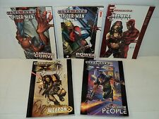 Ultimate Elektra + Spider-Man + X-Men TPB SET! 5 Marvel comic books (bd-6299)