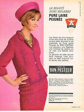 PUBLICITE ADVERTISING 044  1963   LES LAINES DU BON PASTEUR  création LUCE BRETT