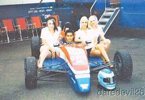 1990's GWR Formula Ford Grid Girls blankback postcard