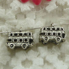 Free Ship 40 pieces Antique silver school bus charms 16x14mm #838