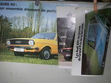 PROSPECTUS  AUDI 50 ET 100 1976 + PROSPECTUS AUDI 80 SEPT 1972