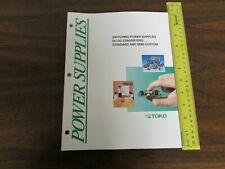 Toko Power Supply Supplies Catalog 166pp 1993