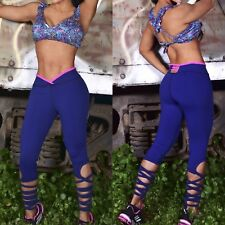 Colombian Brazilian Women Set Outfit Tights Top Supplex S M Gym Workout Yoga