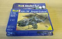 Bell AH-1W Supercobra Helicopter 1:72 Model Kit 64943 REVELL w/ paints & brush