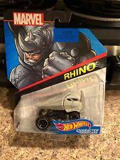 Hot Wheels Marvel Rhino Character Cars New on Card MINT
