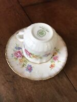 Oakley Fine Bone China Made In England.Tea Cup And Saucer With Beautiful Flowers