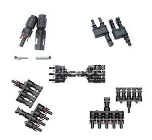 MC/H4 Stecker 1-1 bis 5-1 / Y T Stecker / Verzweigungsstecker / Solar PV Stecker