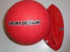 "RED SPORT DESIGN 8-1/2"" KICKBALL, DODGEBALL DEFLATED"