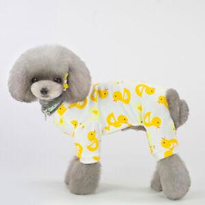 Cute Cartoon Pet Dog Jumpsuit Pajamas Clothes Puppy Cat Homewear Overalls S-XXL