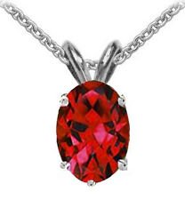 @@ Wholesale Genuine Ruby Oval Necklace Pendant With Certificate