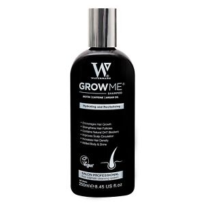 Hair Growth Shampoo Waterman's Sulphate Free Caffeine Biotin Argan Oil Hair Grow