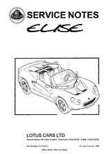 LOTUS ELISE S1 SERIES 1 WORKSHOP SERVICE MANUAL 111S 340R EXIGE 96 - 01 PDF