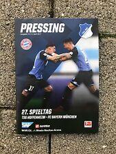 Programm Pressing TSG Hoffenheim - FC Bayern München 04.04.17 FCB