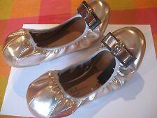 Atmósfera de Cobre/Oro strectchy Estilo Ballet Zapatos Talla 6 totalmente nuevo con etiquetas