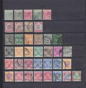 MALAYA PAHANG 1891-1950, 37 STAMPS INCLUDING #73 (5$)