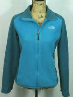 THE NORTH FACE Women's Fleece Jacket S Flashdry Blue Colorblock Full Zip
