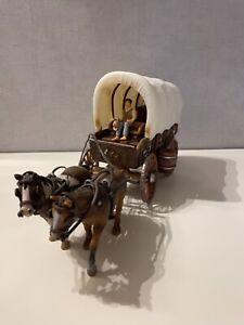 Schleich Planwagen mit Pferden