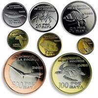 COLOURED UNC ZIMBABWE 8 COINS SET 1 SHILLING 2017 TANKS