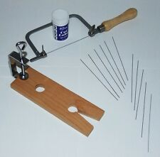 Jewelers Or Crafters Saw Kit With Twelve Blades , Cutting Lube & Vise
