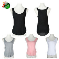 Ladies Summer Casual Loose Sleeveless Solid Vest Tank Modal Tops Blouse T-Shirts