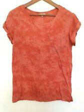 PEACE ANGEL Ladies Designer Copper Red Short Sleeve T-Shirt size M EUC